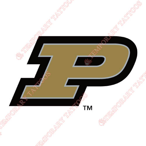 Purdue Boilermakers Customize Temporary Tattoos Stickers NO.5942