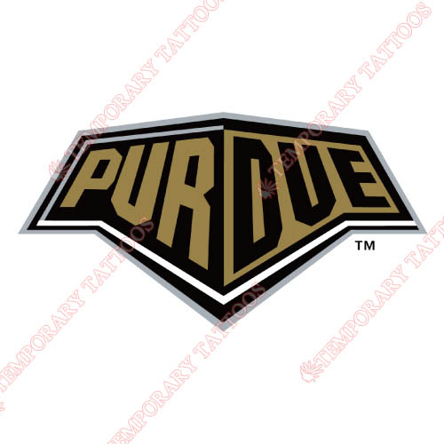 Purdue Boilermakers Customize Temporary Tattoos Stickers NO.5944