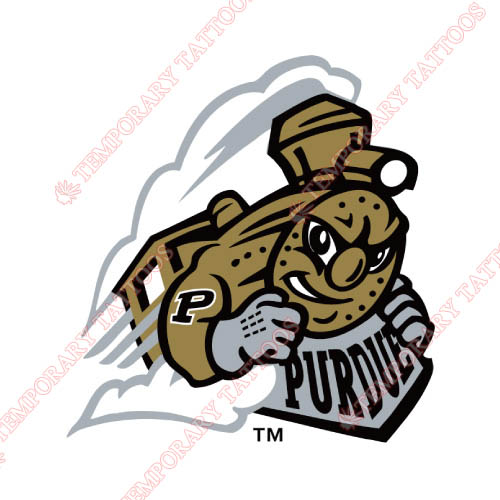 Purdue Boilermakers Customize Temporary Tattoos Stickers NO.5945