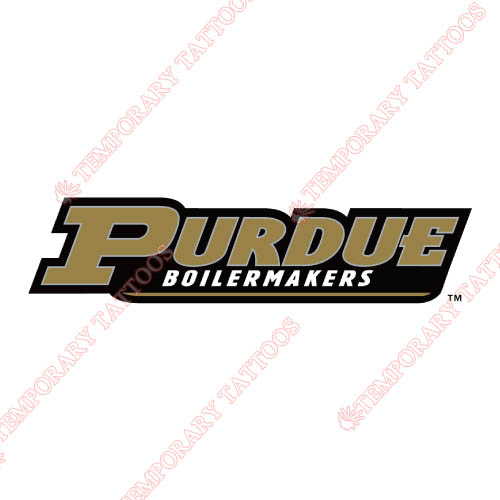 Purdue Boilermakers Customize Temporary Tattoos Stickers NO.5946