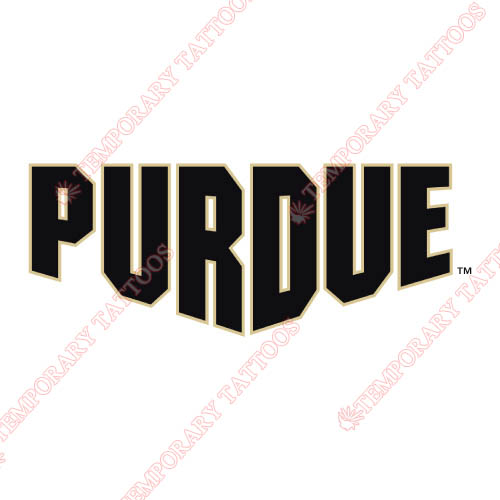 Purdue Boilermakers Customize Temporary Tattoos Stickers NO.5947