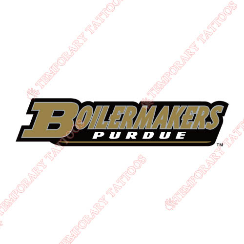 Purdue Boilermakers Customize Temporary Tattoos Stickers NO.5950