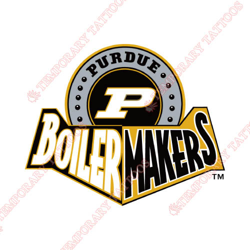 Purdue Boilermakers Customize Temporary Tattoos Stickers NO.5951