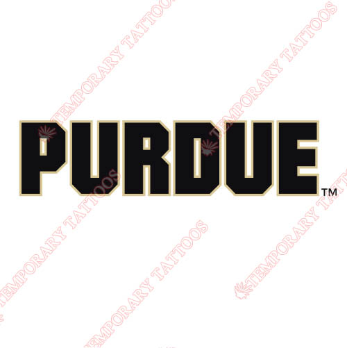 Purdue Boilermakers Customize Temporary Tattoos Stickers NO.5952
