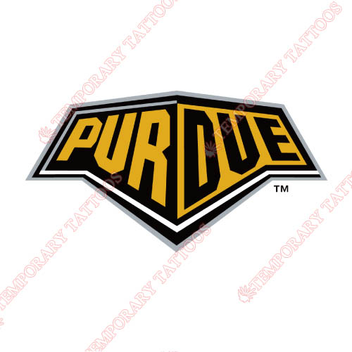 Purdue Boilermakers Customize Temporary Tattoos Stickers NO.5954
