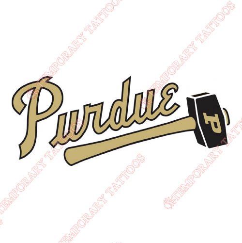 Purdue Boilermakers Customize Temporary Tattoos Stickers NO.5956