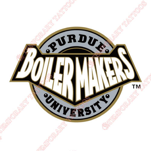 Purdue Boilermakers Customize Temporary Tattoos Stickers NO.5963