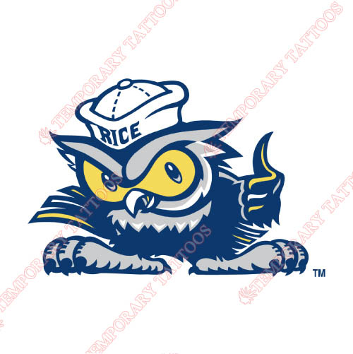 Rice Owls Customize Temporary Tattoos Stickers NO.5987