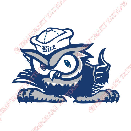 Rice Owls Customize Temporary Tattoos Stickers NO.5991