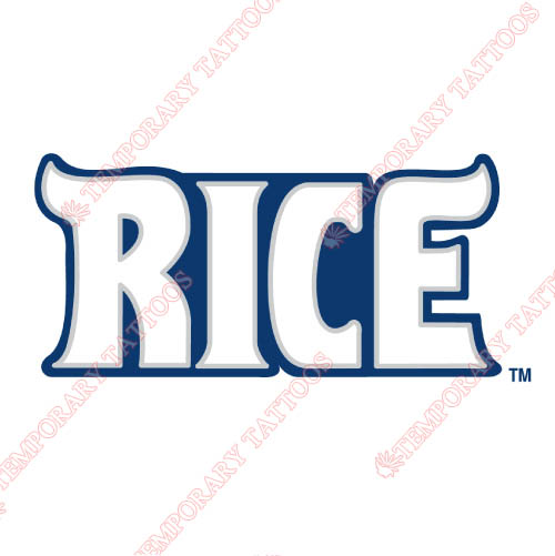 Rice Owls Customize Temporary Tattoos Stickers NO.5993