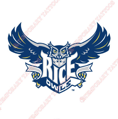 Rice Owls Customize Temporary Tattoos Stickers NO.5995