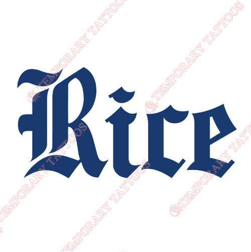 Rice Owls Customize Temporary Tattoos Stickers NO.5998