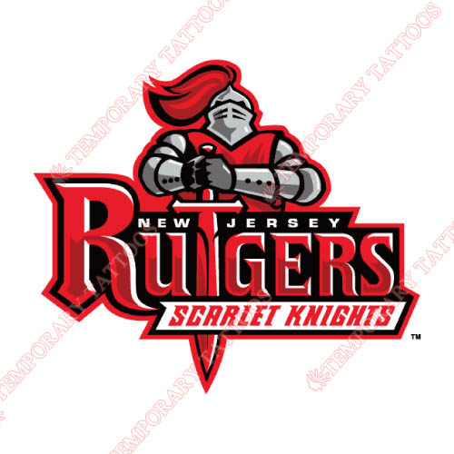 Rutgers Scarlet Knights Customize Temporary Tattoos Stickers NO.6034