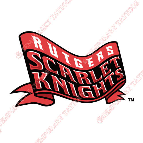 Rutgers Scarlet Knights Customize Temporary Tattoos Stickers NO.6037