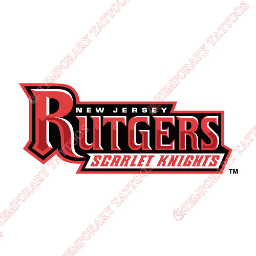 Rutgers Scarlet Knights Customize Temporary Tattoos Stickers NO.6040