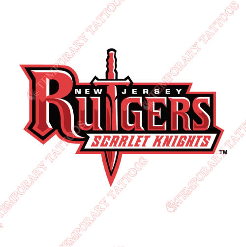 Rutgers Scarlet Knights Customize Temporary Tattoos Stickers NO.6042