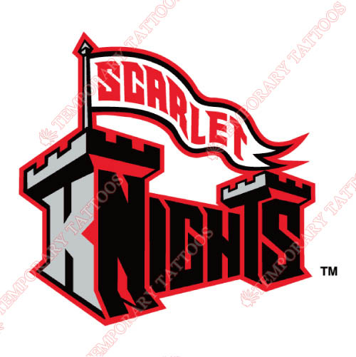 Rutgers Scarlet Knights Customize Temporary Tattoos Stickers NO.6044