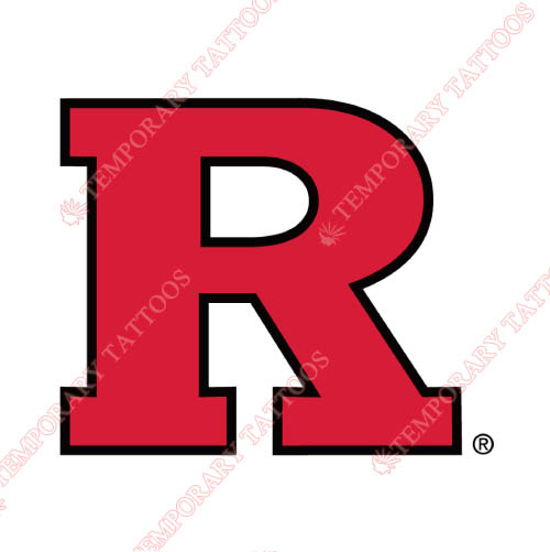 Rutgers Scarlet Knights Customize Temporary Tattoos Stickers NO.6045