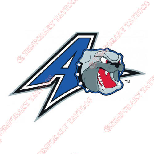UNC Asheville Bulldogs Customize Temporary Tattoos Stickers NO.6048