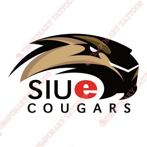 SIU Edwardsville Cougars Customize Temporary Tattoos Stickers NO.6178