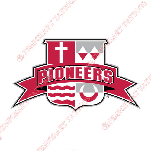 Sacred Heart Pioneers Customize Temporary Tattoos Stickers NO.6064