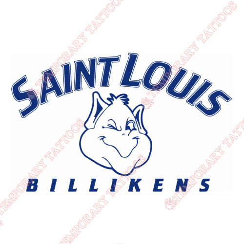 Saint Louis Billikens Customize Temporary Tattoos Stickers NO.6070