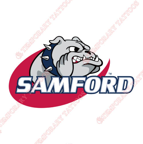 Samford Bulldogs Customize Temporary Tattoos Stickers NO.6090