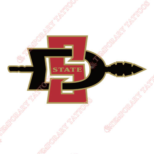 San Diego State Aztecs Customize Temporary Tattoos Stickers NO.6097