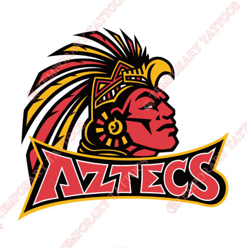 San Diego State Aztecs Customize Temporary Tattoos Stickers NO.6098