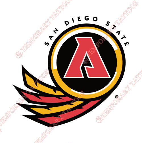 San Diego State Aztecs Customize Temporary Tattoos Stickers NO.6100