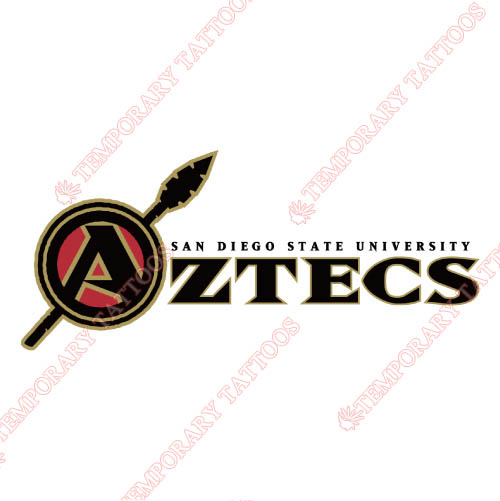 San Diego State Aztecs Customize Temporary Tattoos Stickers NO.6104
