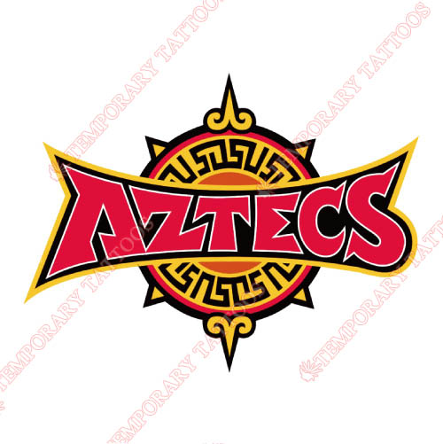 San Diego State Aztecs Customize Temporary Tattoos Stickers NO.6107