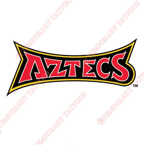 San Diego State Aztecs Customize Temporary Tattoos Stickers NO.6108