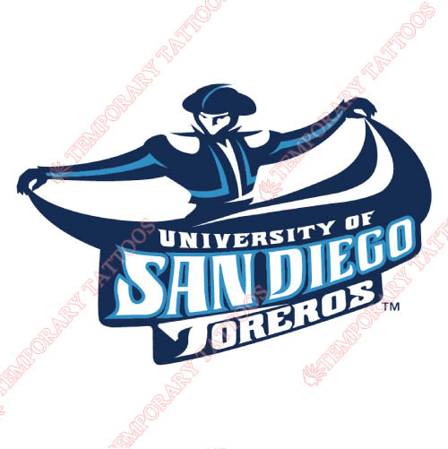 San Diego Toreros Customize Temporary Tattoos Stickers NO.6110
