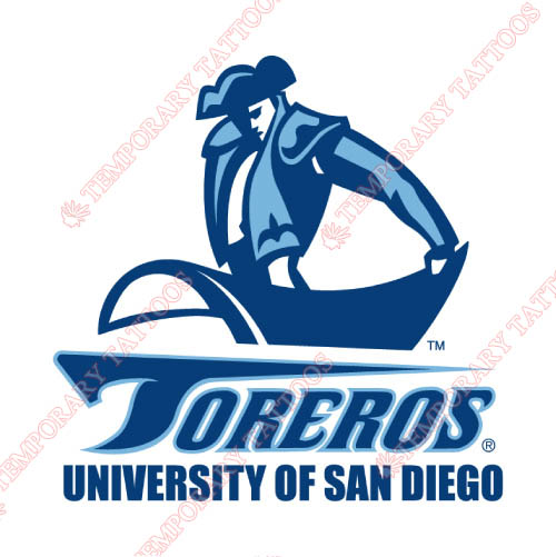 San Diego Toreros Customize Temporary Tattoos Stickers NO.6112