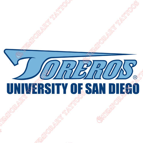 San Diego Toreros Customize Temporary Tattoos Stickers NO.6117