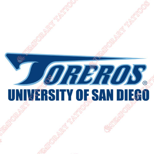 San Diego Toreros Customize Temporary Tattoos Stickers NO.6119
