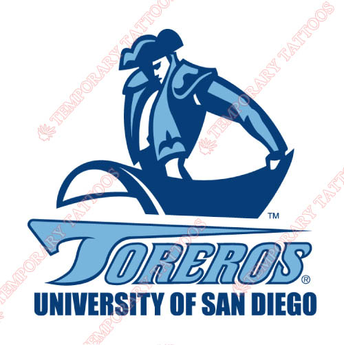 San Diego Toreros Customize Temporary Tattoos Stickers NO.6120