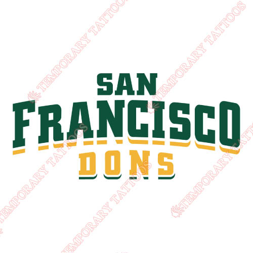 San Francisco Dons Customize Temporary Tattoos Stickers NO.6124