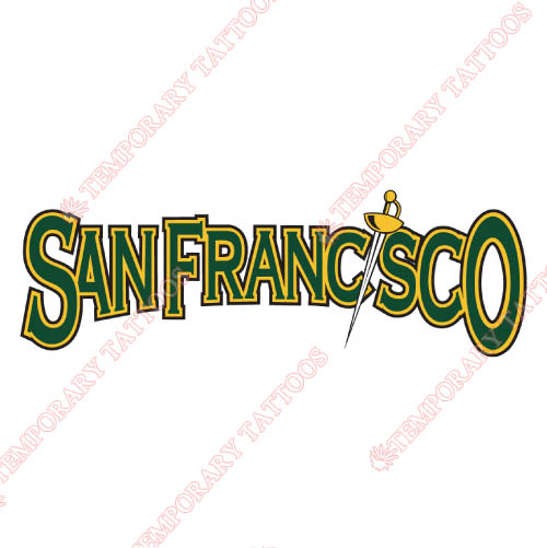 San Francisco Dons Customize Temporary Tattoos Stickers NO.6125