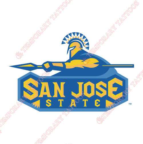 San Jose State Spartans Customize Temporary Tattoos Stickers NO.6129