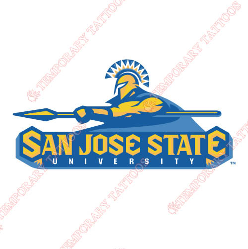 San Jose State Spartans Customize Temporary Tattoos Stickers NO.6130