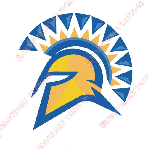 San Jose State Spartans Customize Temporary Tattoos Stickers NO.6132