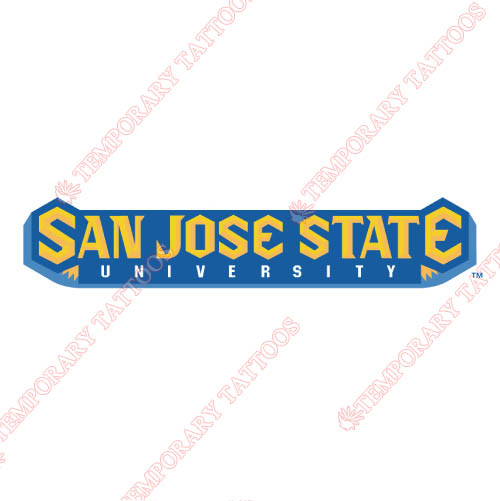 San Jose State Spartans Customize Temporary Tattoos Stickers NO.6133