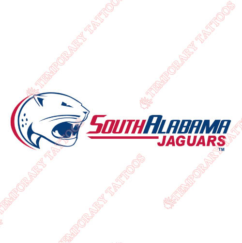 South Alabama Jaguars Customize Temporary Tattoos Stickers NO.6188