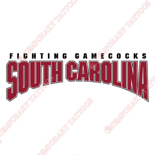 South Carolina Gamecocks Customize Temporary Tattoos Stickers NO.6193