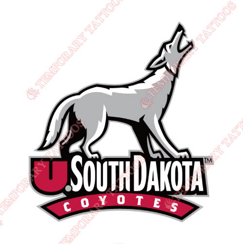 South Dakota Coyotes Customize Temporary Tattoos Stickers NO.6208