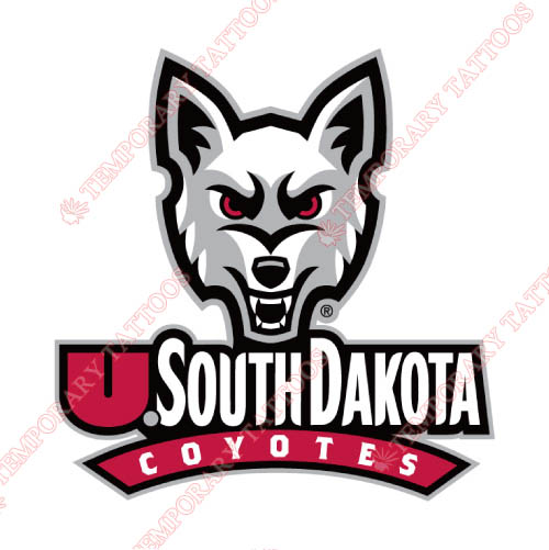 South Dakota Coyotes Customize Temporary Tattoos Stickers NO.6209