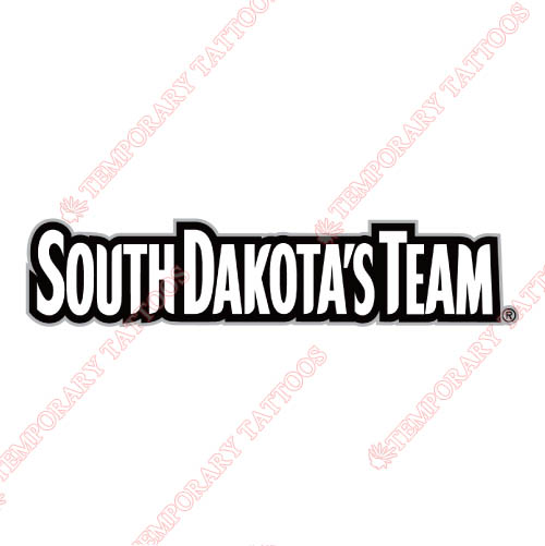 South Dakota Coyotes Customize Temporary Tattoos Stickers NO.6210