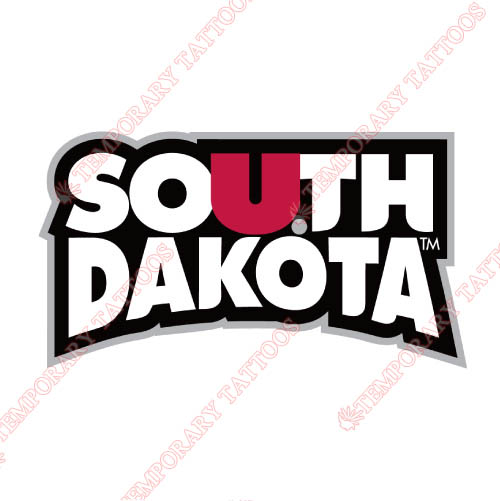 South Dakota Coyotes Customize Temporary Tattoos Stickers NO.6212